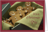 Christmas Tea Party Invitation, Gingerbread Cookies card