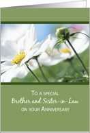 Brother & Sister-in-Law Anniversary, Flowers, Green card