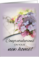 New Home Congratulations with Flowers in Vase card