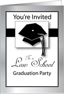 Law School Graduation Party Invitation - Construction, Cap card