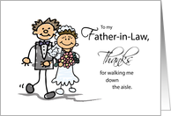 Father-in-Law, Thanks for Walking Me Down the Aisle, Stick Figure Drawings card