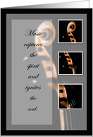 Recognition, String Bass Music Congratulations card