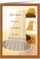 Recognition, Guitar Music Congratulations card