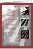 Recognition, Organ Music Congratulations card