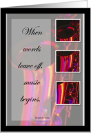Recognition, Saxophone, Music Congratulations card