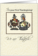 First Thanksgiving Turkey Family, Holiday card