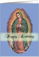 Birthday on Feast of Our Lady of Guadalupe card