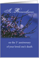 Remembrance on the 1st Anniversary of Death, Religious card