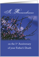 Remembrance 1st Anniversary Death of Father, Religious card