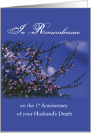Remembrance 1st Anniversary Death of Husband, Religious card