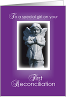 First Reconciliation for Girl, Angel card