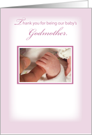 Thanks for Being Our Daughter's Godmother card