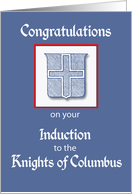 Congratulations, Induction to the Knights of Columbus card