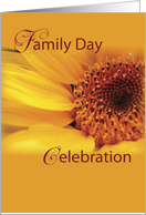 Family Day Celebration Invitation, Yellow Flower card