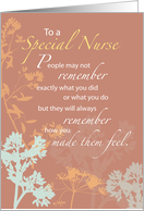 Happy Nurses Day, Brown with Wildflowers, Thank You card