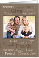 Father's Day Qualities of Good Father, Custom Photo card