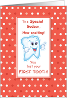 Grandson Lost First Tooth Congratulations card