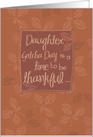 Daughter, Thankful on Gotcha Day card