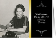 Customize Year Retirement Party Invitation II card