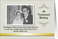 Custom Wedding Invitation FUNNY - Photo Card