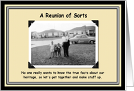 Dysfunctional family reunion card