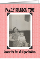 Family Reunion Time card
