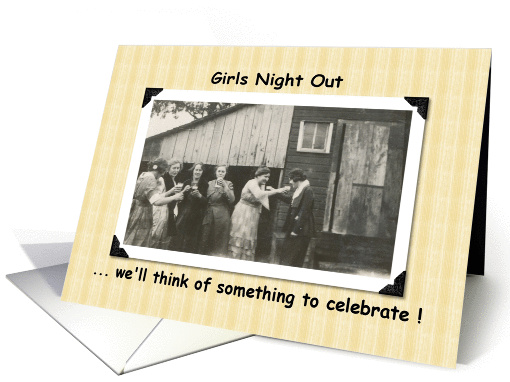 Girls night out Invite card (207635)