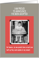 Adoption Warning card