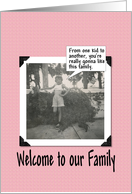 Welcome to the Family - Niece card