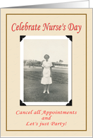 Nurse's Day Party card