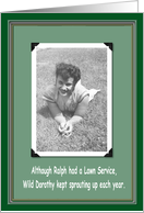 Spring Lawn Service Humor card