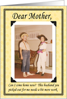 Mother's Day from Daughter/couple card