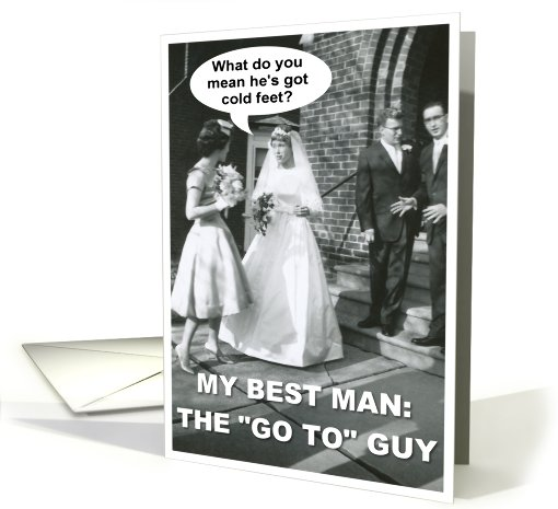 Best Man - Best Friend card (425501)