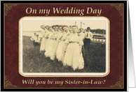 On Wedding Day Sister-in-Law card