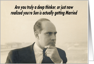 Son getting Married card