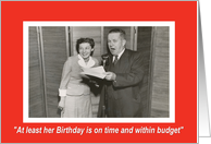 Business Birthday for Her - Retro card