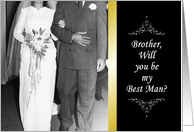 Will you be my best man - Brother card