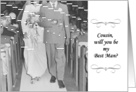 Will you be my best man - Cousin card