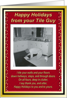 Christmas from the Tile Guy card