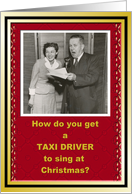 Taxi Driver Christmas Holiday thank You card