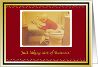 Plumber Holiday thank You to Customers card
