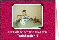 TrainStation 4 for Kids- Christmas Holiday - FUNNY card