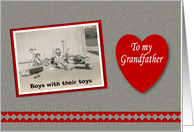Valentine's Day Grandfather Grandpa - Boy Toys card