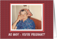 Pregnant with Boy Congratulations - FUNNY card