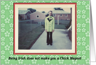 Saint Patrick's Chick Magnet - FUNNY card