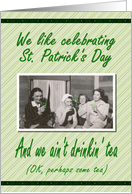 St. Patrick's Day Girls card