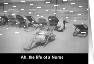 Nurses Day Beach - FUNNY card