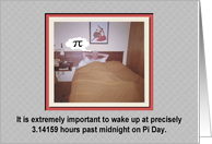 Pi Day in bed - FUNNY card