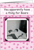 Gay Bear Humor - FUNNY RETRO card