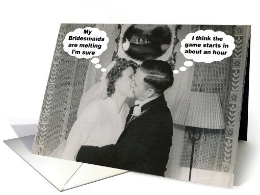 Bridesmaid Friend Melting - Kissing Couple card (747994)
